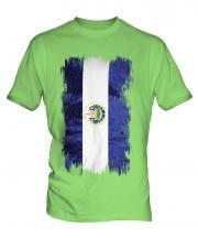 El Salvador Grunge Flag Mens T-Shirt