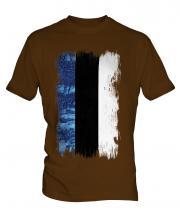 Estonia Grunge Flag Mens T-Shirt