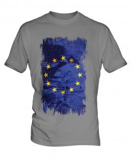 European Union Grunge Flag Mens T-Shirt