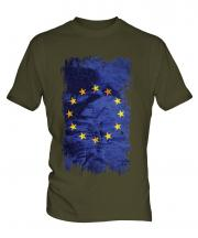 European Union Grunge Flag Mens T-Shirt