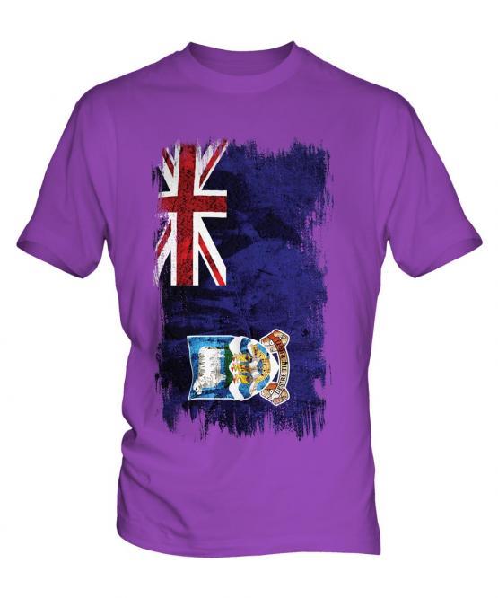 Falkland Islands Grunge Flag Mens T-Shirt