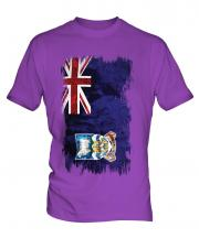 Falkland Islands Grunge Flag Mens T-Shirt