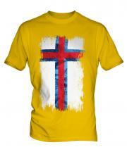 Faroe Islands Grunge Flag Mens T-Shirt