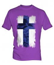 Finland Grunge Flag Mens T-Shirt