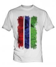 Gambia Grunge Flag Mens T-Shirt