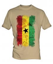 Ghana Grunge Flag Mens T-Shirt