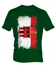 Gibraltar Grunge Flag Mens T-Shirt