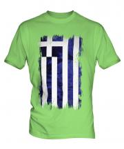 Greece Grunge Flag Mens T-Shirt