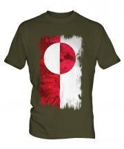 Greenland Grunge Flag Mens T-Shirt
