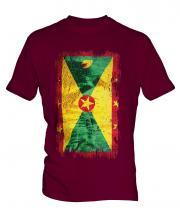 Grenada Grunge Flag Mens T-Shirt