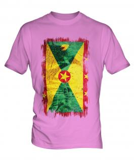 Grenada Grunge Flag Mens T-Shirt