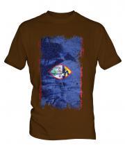 Guam Grunge Flag Mens T-Shirt