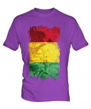 Guinea Grunge Flag Mens T-Shirt