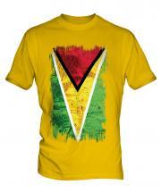 Guyana Grunge Flag Mens T-Shirt