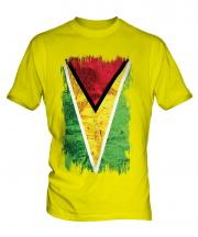 Guyana Grunge Flag Mens T-Shirt