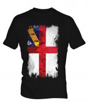 Herm Grunge Flag Mens T-Shirt