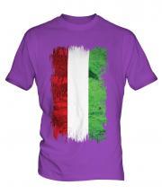 Hungary Grunge Flag Mens T-Shirt