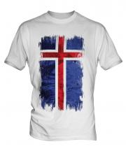 Iceland Grunge Flag Mens T-Shirt