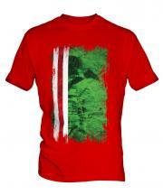 Ichkeria Grunge Flag Mens T-Shirt