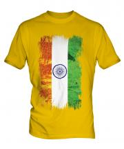India Grunge Flag Mens T-Shirt