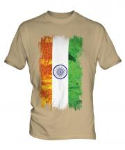 India Grunge Flag Mens T-Shirt