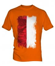 Indonesia Grunge Flag Mens T-Shirt