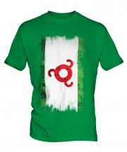 Ingushetia Grunge Flag Mens T-Shirt