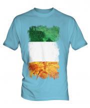 Ireland Grunge Flag Mens T-Shirt