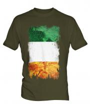 Ireland Grunge Flag Mens T-Shirt