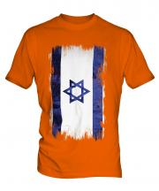 Israel Grunge Flag Mens T-Shirt