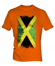 Jamaica Grunge Flag Mens T-Shirt