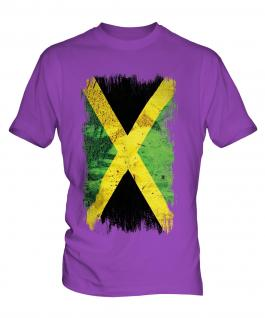 Jamaica Grunge Flag Mens T-Shirt