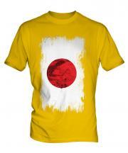 Japan Grunge Flag Mens T-Shirt