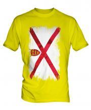 Jersey Grunge Flag Mens T-Shirt