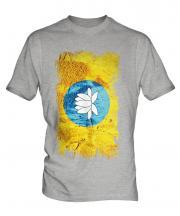 Kalmykia Grunge Flag Mens T-Shirt
