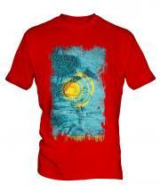 Kazakhstan Grunge Flag Mens T-Shirt