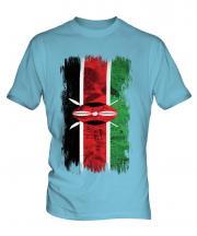 Kenya Grunge Flag Mens T-Shirt