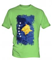 Kosovo Grunge Flag Mens T-Shirt