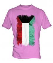 Kuwait Grunge Flag Mens T-Shirt