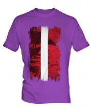Latvia Grunge Flag Mens T-Shirt
