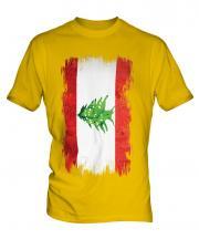 Lebanon Grunge Flag Mens T-Shirt