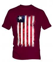 Liberia Grunge Flag Mens T-Shirt