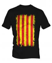 Catalonia Grunge Flag Mens T-Shirt