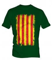 Catalonia Grunge Flag Mens T-Shirt