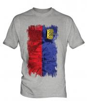 Liechtenstein Grunge Flag Mens T-Shirt