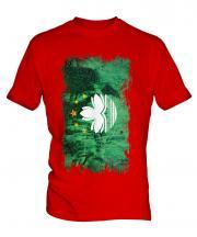 Macau Grunge Flag Mens T-Shirt