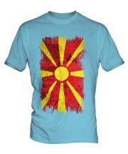 Macedonia Grunge Flag Mens T-Shirt