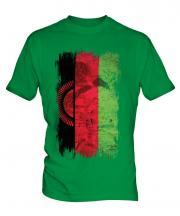 Malawi Grunge Flag Mens T-Shirt
