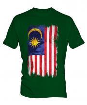 Malaysia Grunge Flag Mens T-Shirt