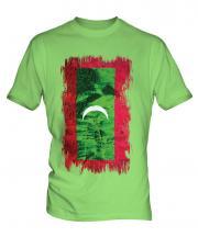 Maldives Grunge Flag Mens T-Shirt